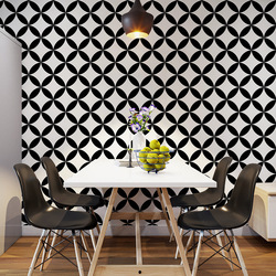 Скандинавские черно-белые клетчатые обои геометрические линии Ресторан отеля молочный чай магазин одежды магазин обоев для гостиной