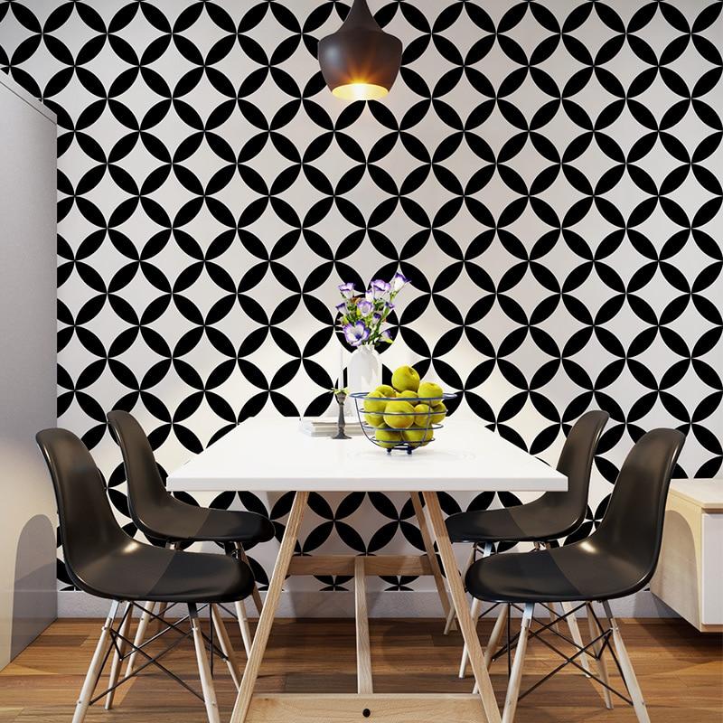 Скандинавские черно белые клетчатые обои геометрические линии Ресторан отеля молочный чай магазин одежды магазин обоев для гостиной
