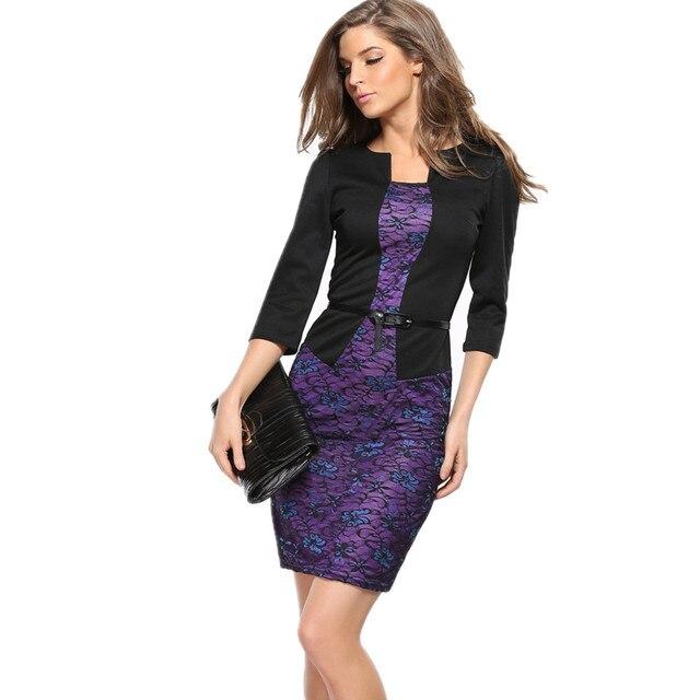 Office Dress Elegant Bandage Big Size Female Clothes European Style Vestido  De Festa Formal Vintage Work Wear Women Pencil Dress af8ee6a6a3e0