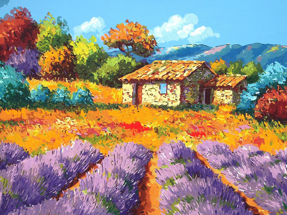 Картинки природа для рисования красками