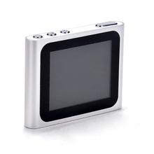 "6th Generation Mp3 Mp4 Music Video Media Player FM Games Movie 1.8"" LCD Screen Support TF Card Clip Sport Digital MP4 Player"
