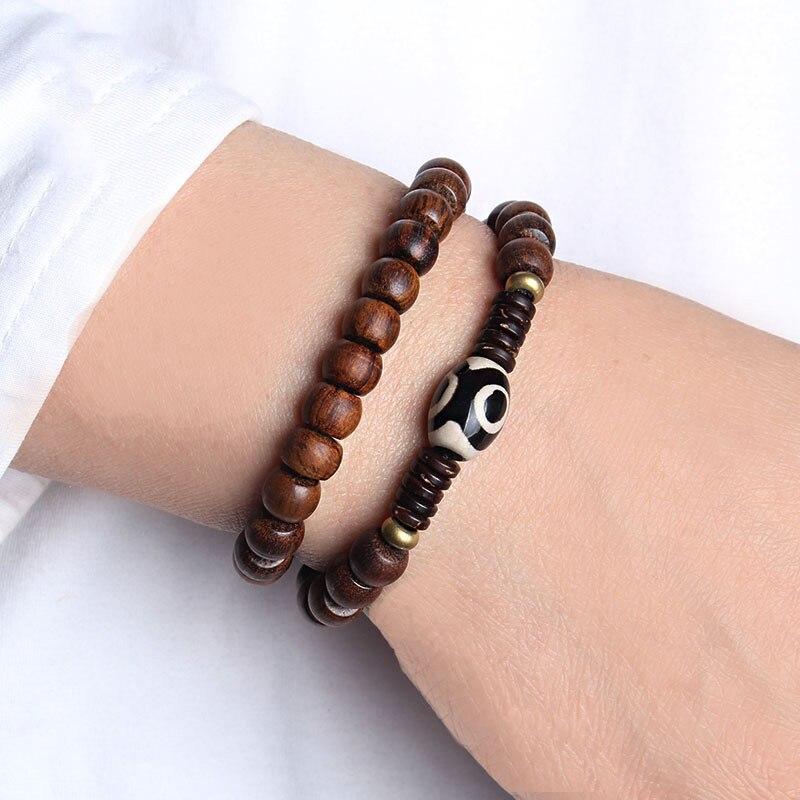 beau avant-garde de l'époque magasin en ligne € 6.25 13% de réduction|WEIYU Bracelet de prière tibétain en bois de santal  perles Mala bois chapelet Bracelets bouddhiste méditation népal Bracelet ...
