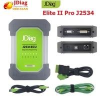 Оригинальный JDiag Elite II Pro с полным программного обеспечения J2534 Профессиональный ECU программист инструмент авто диагностический ECU сканер ин