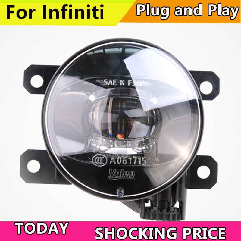 Car Styling FOR VALEO LED LIGHT for Infiniti G25 G35 G37 M25 M35 M37 Q70 LED Fog Light Auto Angel Eye Fog Lamp ownsun innovative super cob fog light angel eye bumper cover for skoda fabia scout