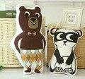 Crianças Robô Urso Panda Bonito Padrão Animais Do Bebê Travesseiro Macio e Aconchegante Casa Decorativo Aniversário Caçoa o Presente de Natal Travesseiro