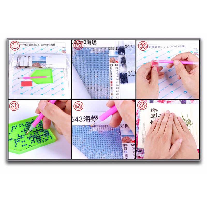 DIY Diamond Bordir Payung Bunga 5D Diamond Lukisan Cross Stitch Kit Penuh Diamond Mosaik Dekorasi Rumah