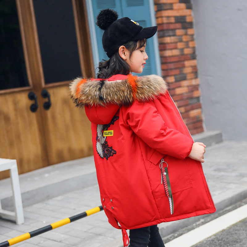 Winter Down Jacket Parka for Girls Big Fur Hooded Clothes for girls age 12 14 years 2018 Children Winter CoatWinter Down Jacket Parka for Girls Big Fur Hooded Clothes for girls age 12 14 years 2018 Children Winter Coat