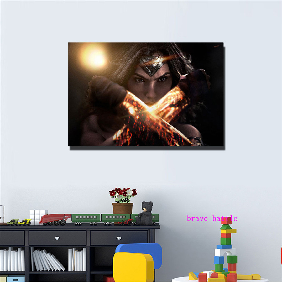 Justice League Wonder Woman Canvas Painting Print Living Room Home Decor Modern Wall Art Oil Painting