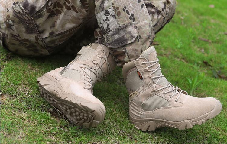 The new delta high Bangnan special forces military boots desert tactical boots outdoor tactical equipment professional climbing