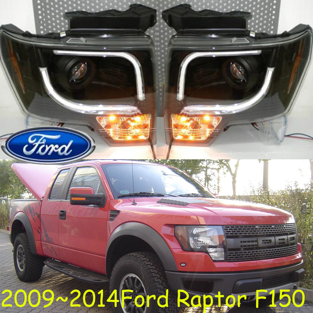 Rapto F150 headlight,2009 2011 2012 2013 2014 year,Free ship!Rapto F150 fog light,2ps/se+2pcs Aozoom Ballast;F150 for rapto f 150 daytime light 2013 free ship led f 150 fog light ecosport kuga f 150 fog lamp heritage daytime light