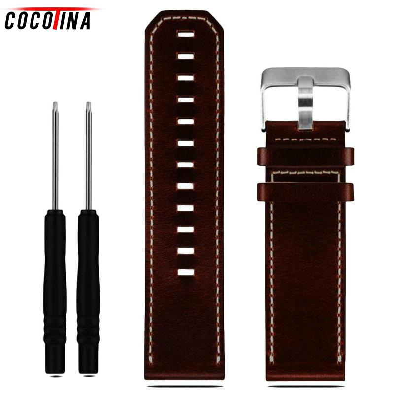 Cocotina Leather Watch Band Strap For Fenix 3 Men Watch Accessorie 22mm Genuine Leather Watchband For Garmin Fenix 3 Watch Strap 12 colors 26mm width outdoor sport silicone strap watchband for garmin band silicone band for garmin fenix 3 gmfnx3sb
