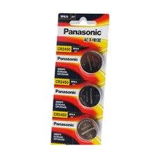 3 шт. Panasonic CR2450 CR 2450 3 В литиевая Кнопочная батарея батареи для часов, часов, слуховых аппаратов