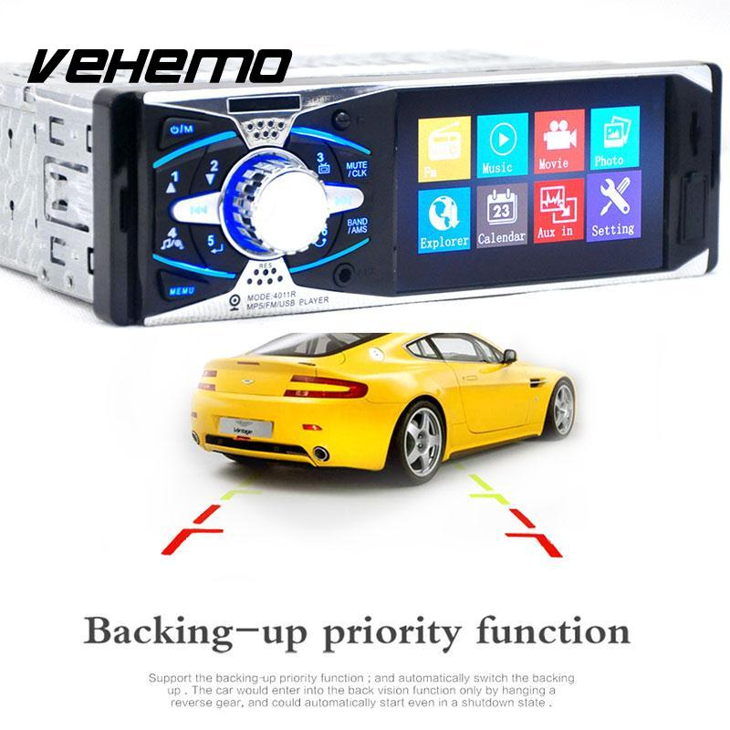 4 Inch TFT Screen Bluetooth Car Radio Video MP4 MP5 Player Rear View Camera Head Unit USB SD AUX Remote Control 2015 new support rear camera car stereo mp3 mp4 player 12v car audio video mp5 bluetooth hands free usb tft mmc remote control