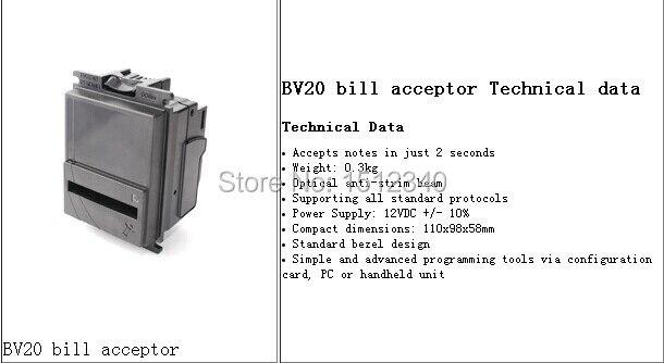 BV20 bill acceptor Technical data/BV20 Bill Acceptor/ Bill Validator