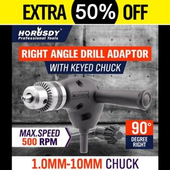 цена на 90 Degree Angle Extension Right Driver Drilling Shank Screwdriver Magnetic 3/8 Inch Hex Drill Bit Socket Holder Adaptor