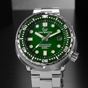 Image 2 - San Martin NEW Tuna SBBN015 Fashion Automatic Watch NH35 Movement Stainlss Steel Diving Watch 300mWater Resistant Ceramics bezel