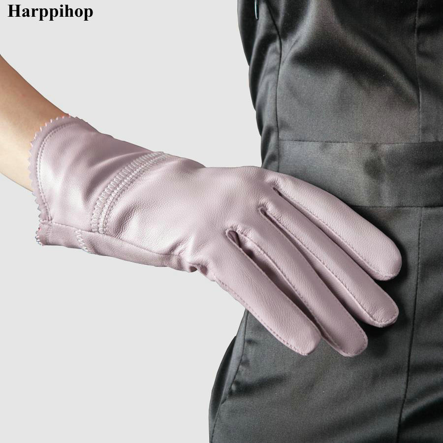 Ladies leather gloves xl - 2017 Genuine Leather Gloves Winter Women S Thin Sheepskin Gloves Women Thermal Gloves China Mainland