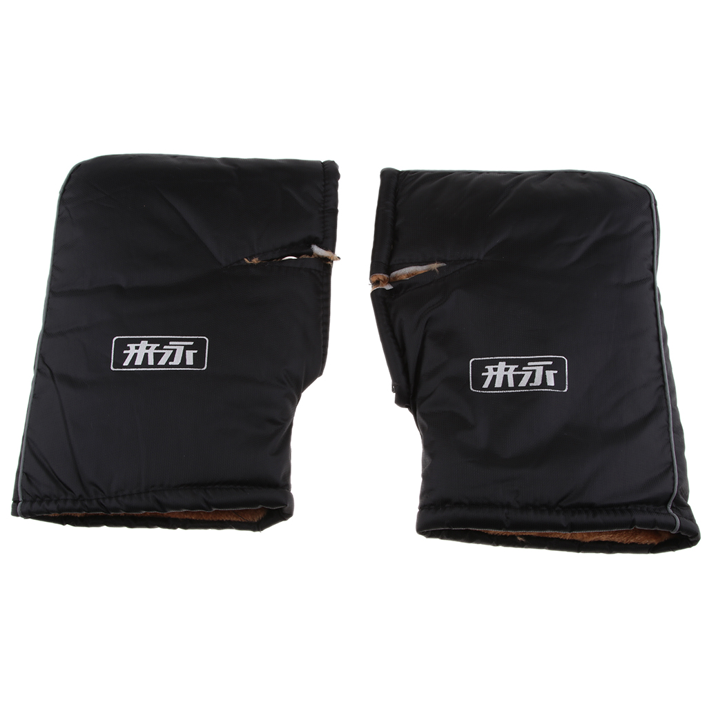 1 Pcs Motorcycle Scooter Hand Mitts With Adjustable Tight Sleeves Winter Warmer Gloves Bar Muff Rainproof Windproof 13.8 X 8.3