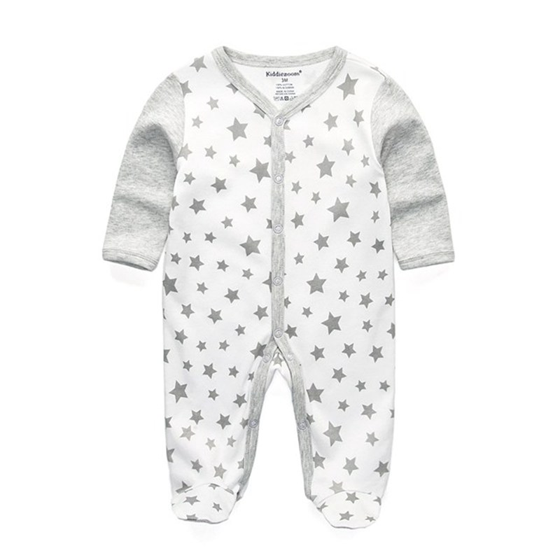 Newborn Baby Wear Boy Romper 100% Cotton Long Sleeve Infant Clothing Cute Girl Rompers Star Unisex Clothes Anti-scratch Gloves cotton cute red lips print newborn infant baby boys clothing spring long sleeve romper jumpsuit baby rompers clothes outfits set