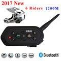 2017 Nova Ejeas E6 BT Motorcycle Helmet Interphone Headset 6 Riders 1200 M Comunicação VOX Bluetooth Intercom Frete Grátis