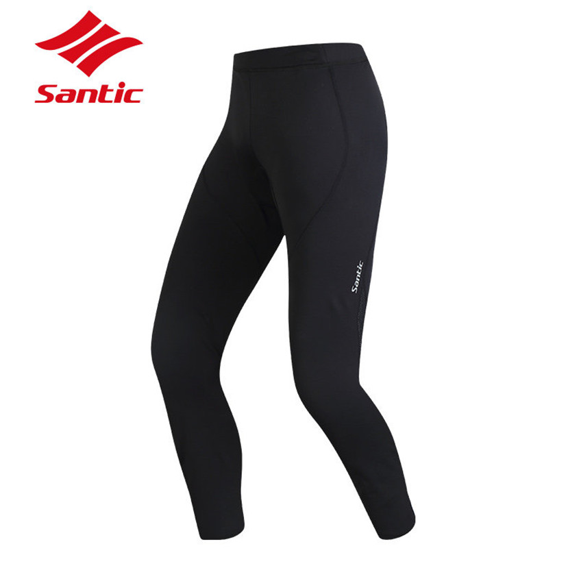 SANTIC Winter Thermal Fleece Cycling Pants Keep Warm Road MTB  Bike Clothing Long 4D Padded Bicycle Pants Men Cycling Clothing santic mtb cycling pants bicycle bike downhill pants women trainers cycling tight pants l5c05058p