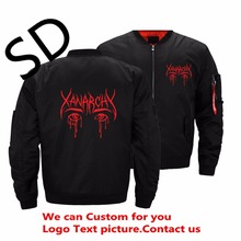 91309aa5e Dropshipping USA Size Lil Xan Anarchy Peep Jacket Printed Winter Jacket Rap  Coat Custom streetwear men