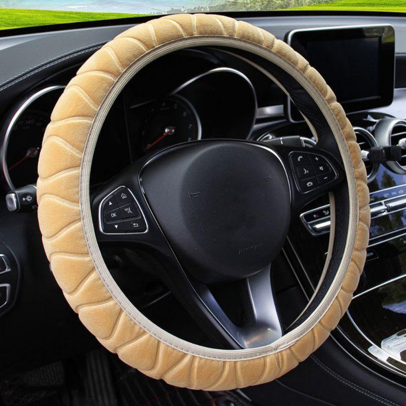 Three-Dimensional Plush Elastic Type Car Steering Wheel Cover DIY Car Steering Wheel Cover New