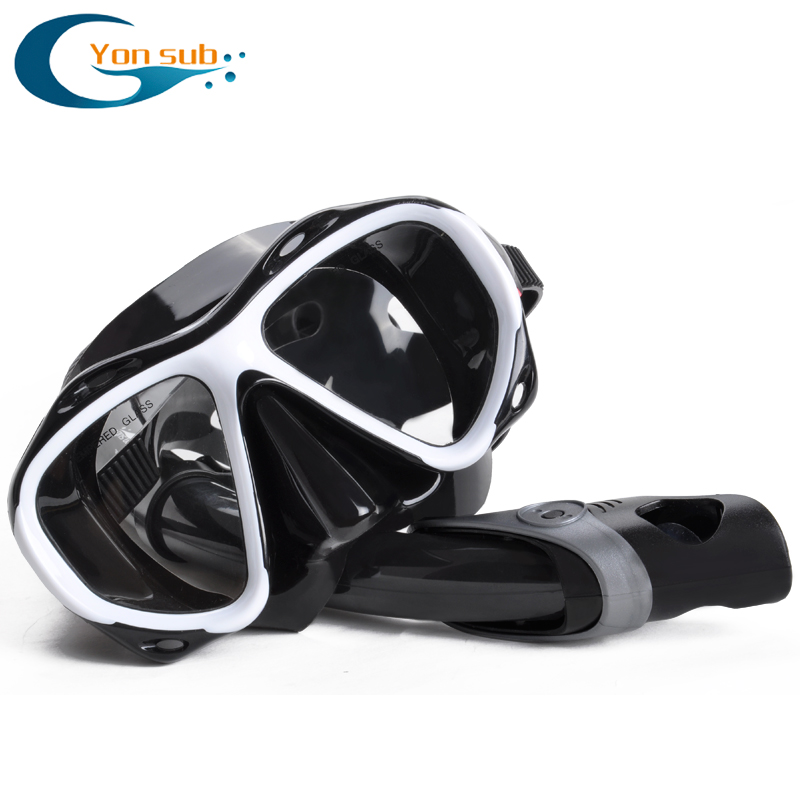 7b21ccd64cb Diving mask nearsighted myopia swimming goggle tempered glass short sighted  nearsightedness -2.0 to -8.0 corrective lens