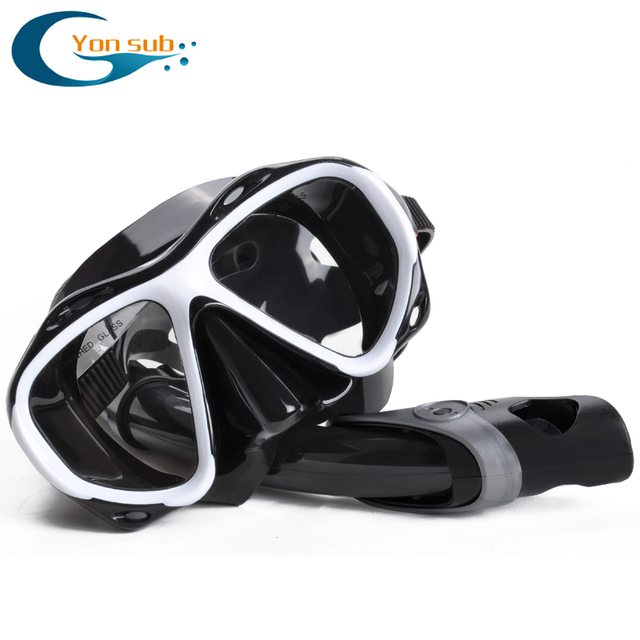 8b7b6cf47f Diving mask nearsighted myopia swimming goggle tempered glass short sighted  nearsightedness -2.0 to -8.0 corrective lens
