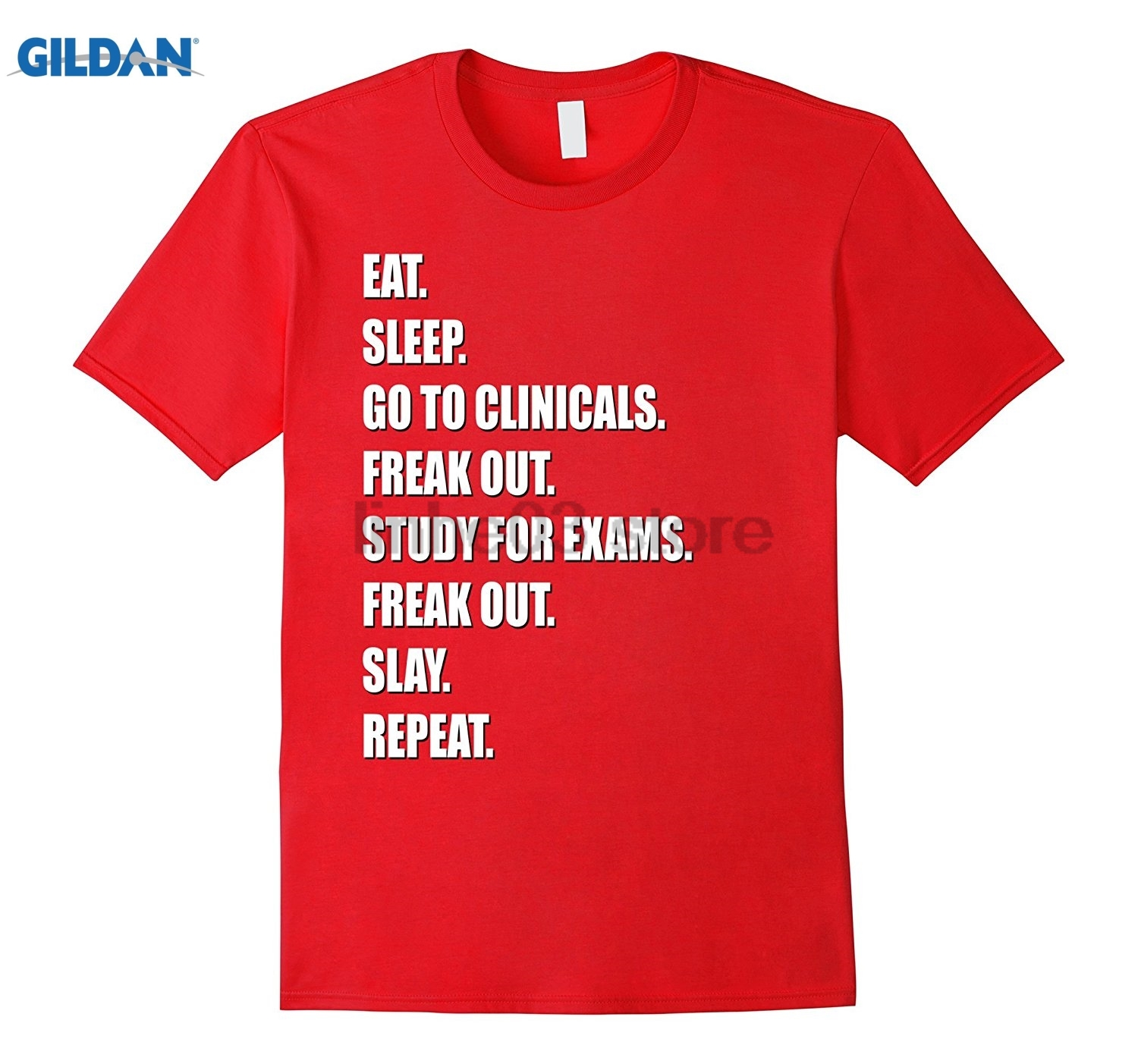 GILDAN Funny Nurse Shirt Slay RN LPN Clinicals Nursing School Dress female T-shirt