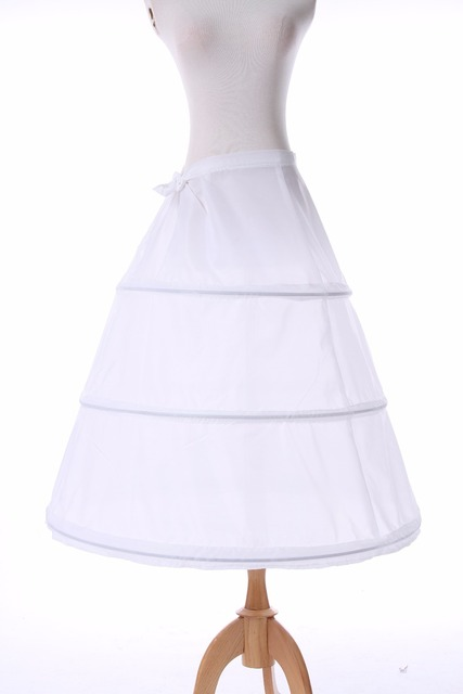 ROLECOS 3 Hoop Ball Gown Petticoat For Wedding Dress White Polyester Accessories Matching Costumes Girls Lolita Petticoat Dress 3