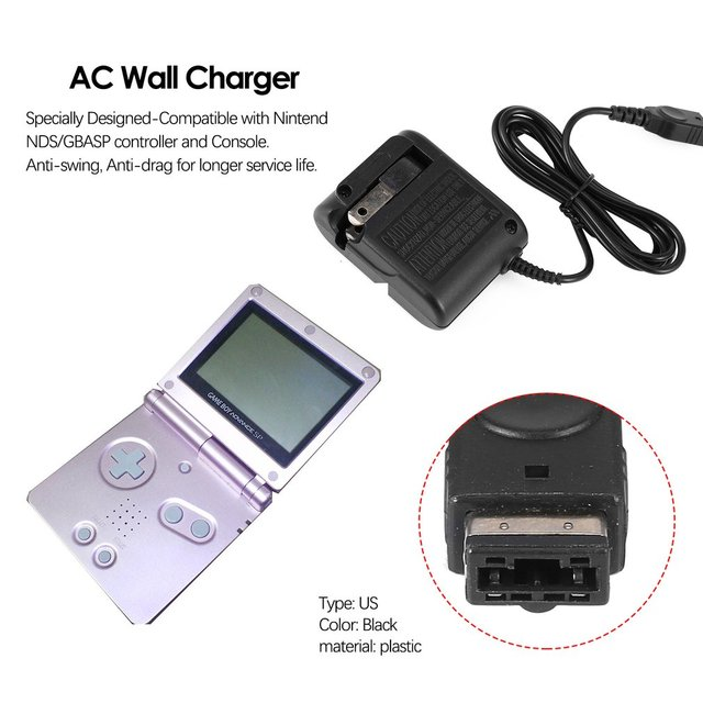 2019 NEW AC Wall Charger for Nintend NDS/GBASP Game Boy Advance Portable Replacement Travel Power Adapter Converter