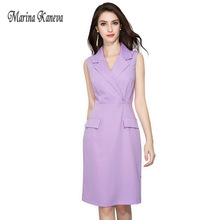 Fashion Women Blazer dress Purple Sexy Women Blazer Dress Autumn Plus size 4XL Chic Female OL Casual Slim formal wear dress