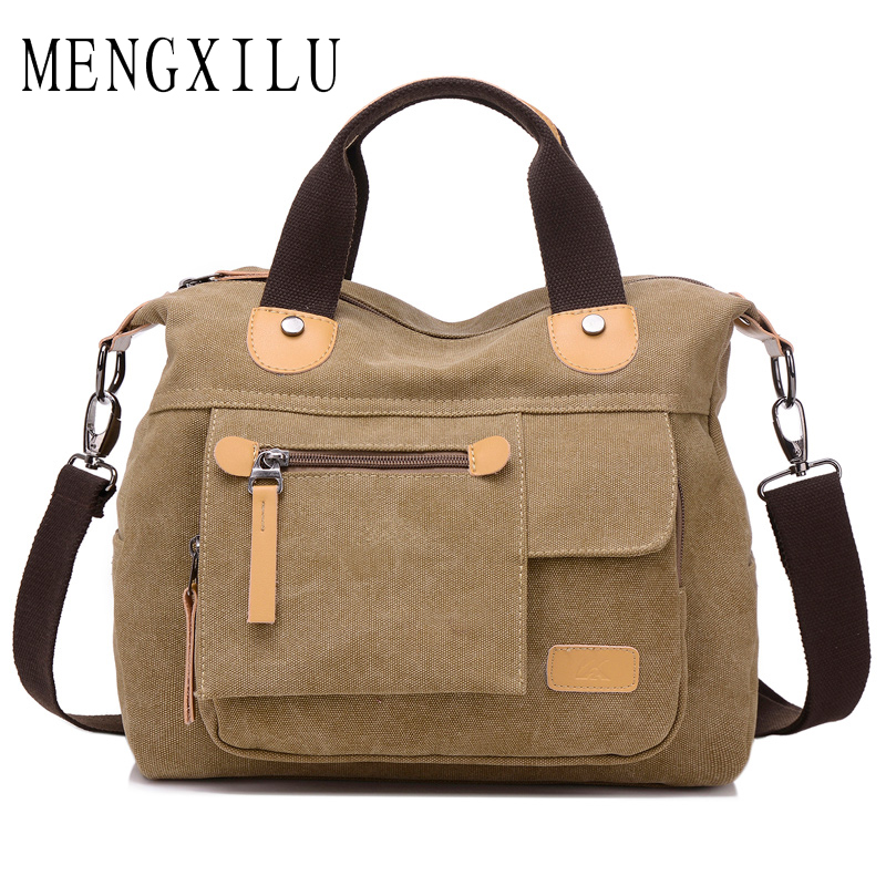 MENGXILU Vintage Canvas Bag Women Designer Handbags High Quality Tote Bag Ladies Shoulder Hand Bag Casual Bolsos Sac A Main 2018 bolsos 2016 women nubuck leather designer handbags high quality famous brand shoulder bag sac a main bolsos mujer hand bags tote