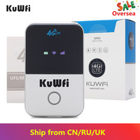 KuWfi 4G Wifi Router Mini 3G/4G LTE Wireless Router Portable Pocket Wi fi Mobile Hotspot Car Wi fi Router With Sim Card Slot