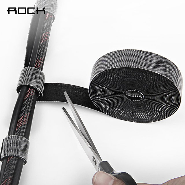 ROCK Usb Cable Organizer Cord Wire Winder Holder Headphone Mouse Wire organizer Usb Cable Desktop Management Cable ties storage
