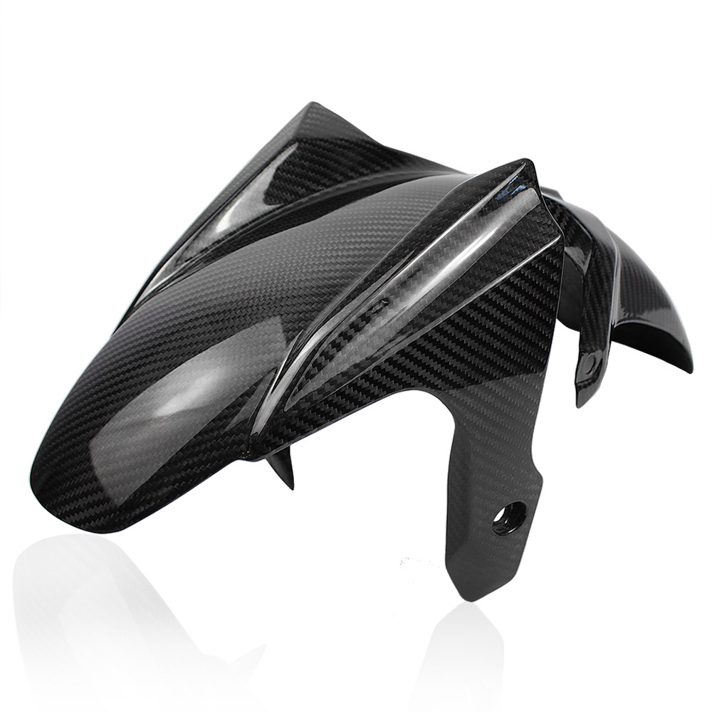 Motorcycle Accessories Real Carbon Fiber Front Fender Cover Protector For Yamaha FZ07 FZ7 MT-07 MT07 2014-2016