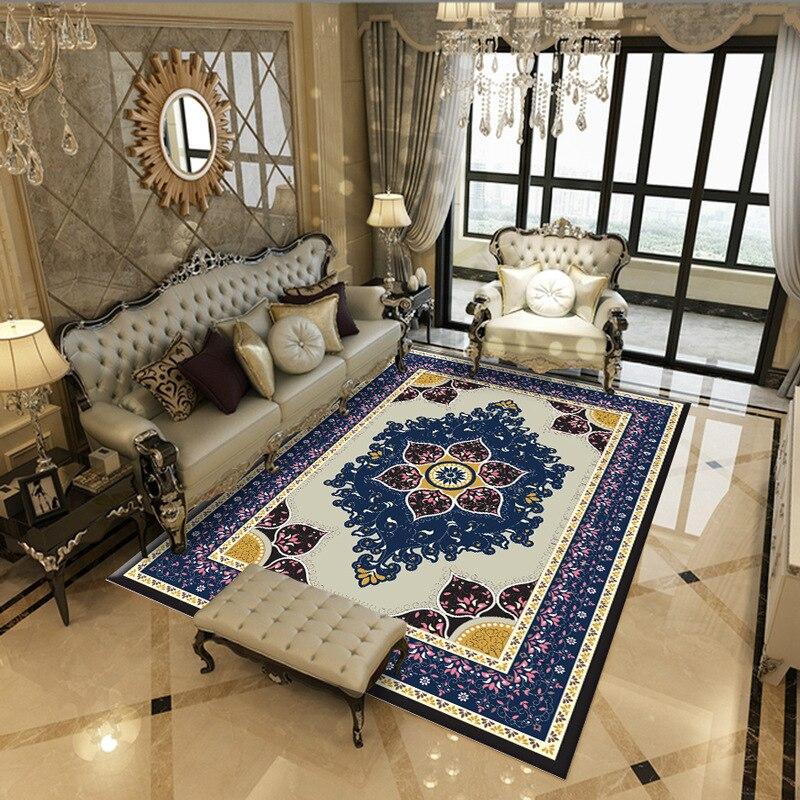 Modern Soft Persian Carpet For Living Room Non-slip European Style Carpet For Bedroom Bedside Rugs Parlor Floor Door Mat