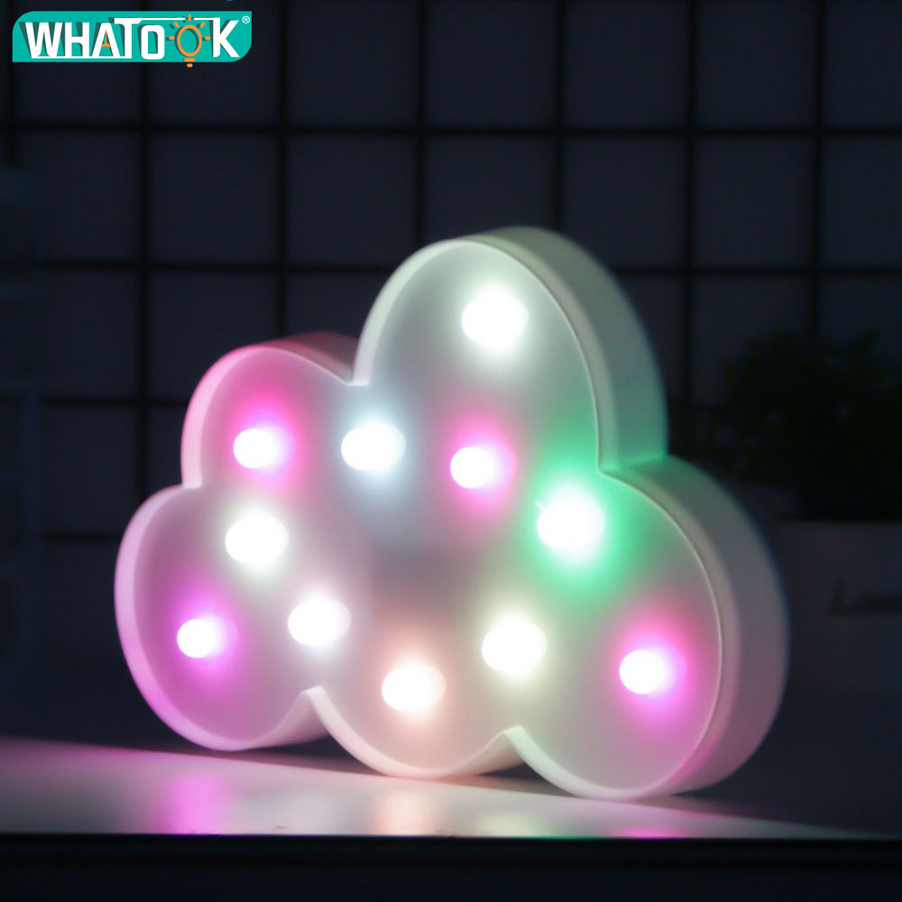 Küchenlampe Neon Ring Us 13 89 41 Off Cute Led Cloud Night Light Party Animal Wall Lampe Marquee Sign Letter 3d Luminaria Light Gifts Toys Bedroom Decor For Kids Baby In