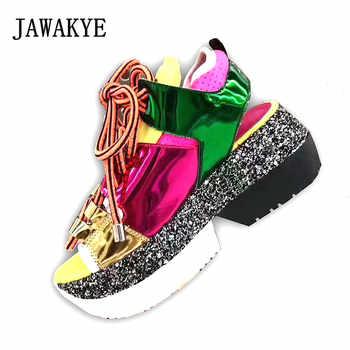 Fashion Designer Thick bottom Gladiator Sandals Women Peep toe Lace up Platform Patchwork Sport Summer Shoes Sandalias mujer - SALE ITEM - Category 🛒 Shoes