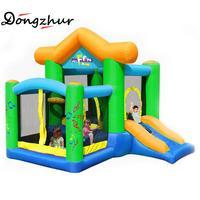 Dongzhur надувной замок прыжки на батуте для детей отказов дом надувной батут плавное скольжение надувные