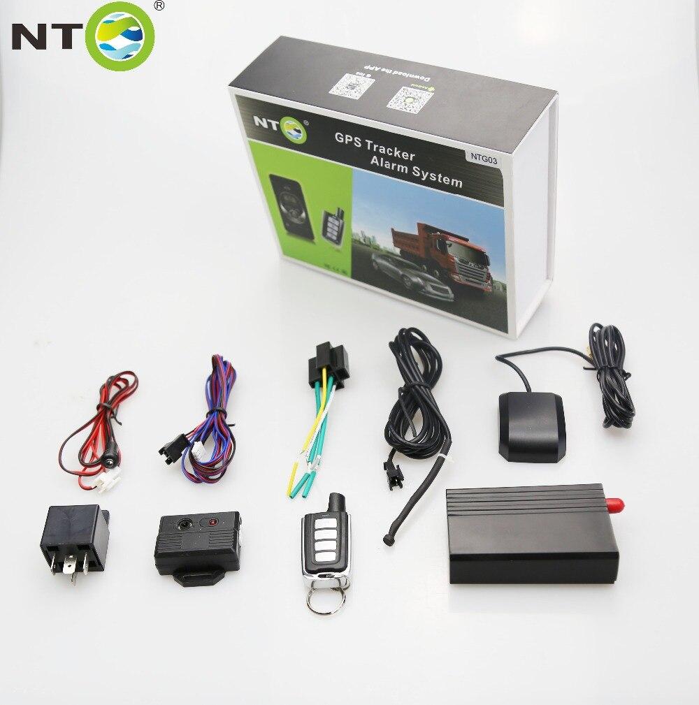 gps tracker car keyless entry system car alarm system with lock/ unlock / vibration alarm/ remote fuel cut by application NTG03