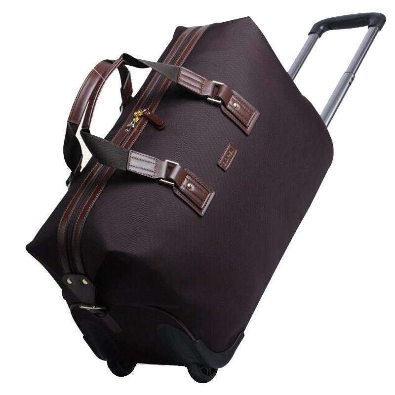 Prix pour 2017 Femmes Bagages À Roulettes Hommes Voyage Sacs Étanche Chariot Sacs Week-End Duffle Sac Femmes Voyage Sacs maletas de viaje femmes