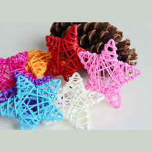 10PCS 6CM Lovely Rattan Star Christmas/Birthday&Home Wedding Party Decorations DIY Ornaments Ball Kids Toy Supplies