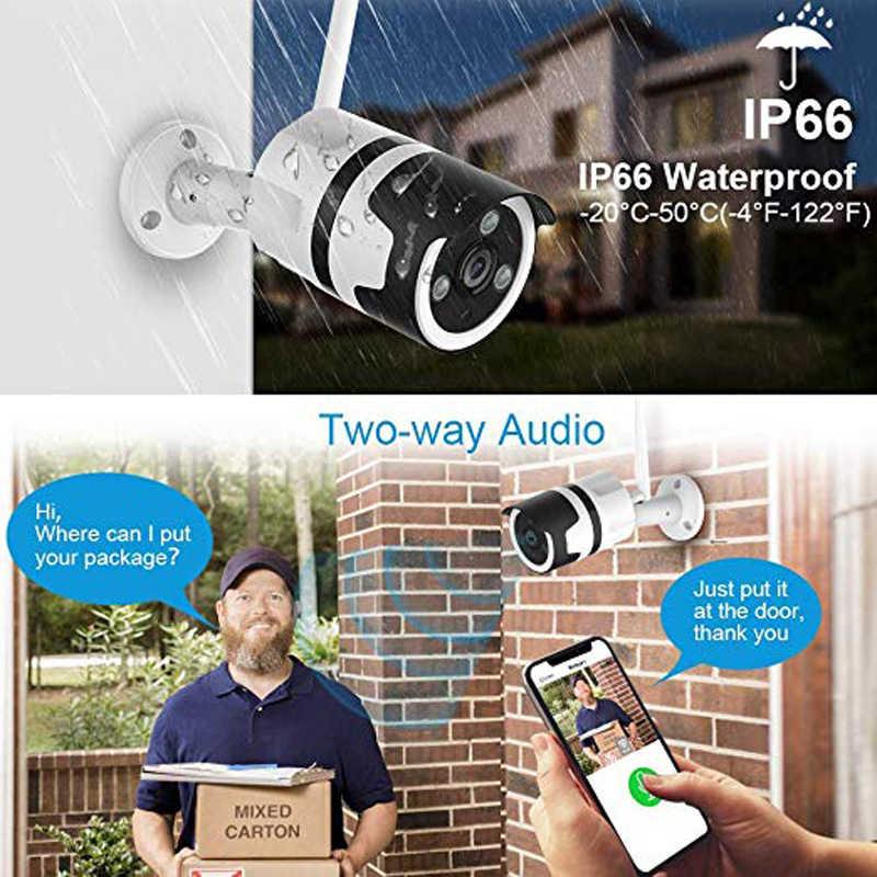 wdskivi Mini HD 1080P Waterproof Outdoor IP Camera P2P WiFi Security Camera Bullet CCTV Surveillance Camera Metal Shell Onvif