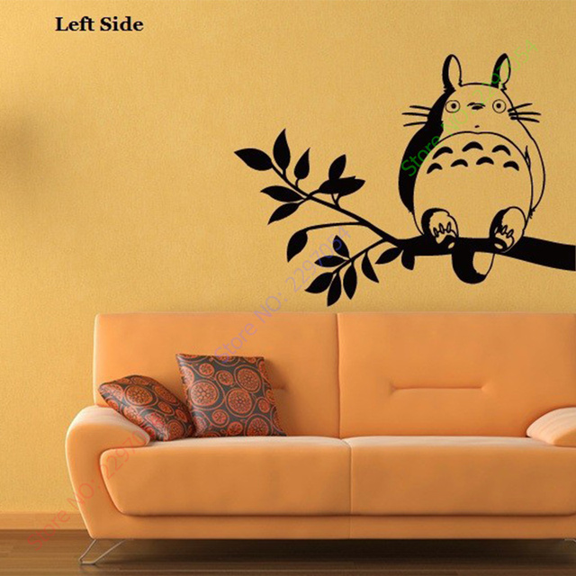 Free Shipping Japanese Cartoon Totoro Chinchilla wall stickers glass ...