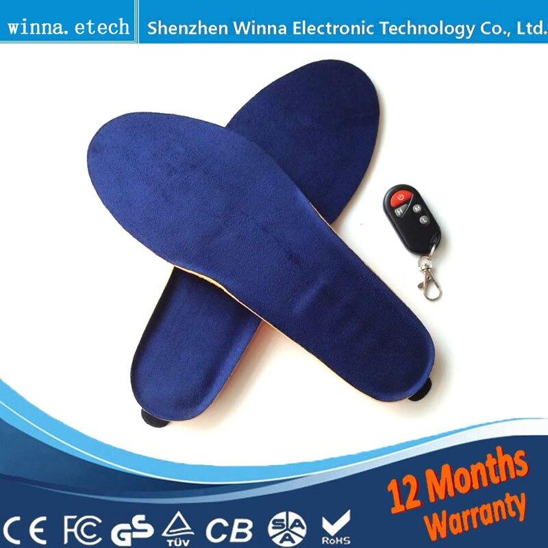 Nouveau USB chaud chauffée semelles Semelles pour les femmes hommes chaussures épais semelle Massage des pieds semelle de chaussure tapis inserts accessoires 2000 mah