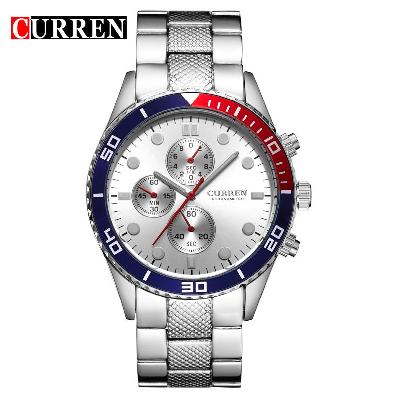 Prix pour Curren marque d'origine quartz montre hommes militaire étanche hommes montres montres de sport relogio masculino 8028