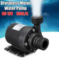 DC 12V/24V 5M 800L/H Portable Mini Brushless Motor Ultra-quiet Submersible Water Pump for Cooling System Fountains Heater