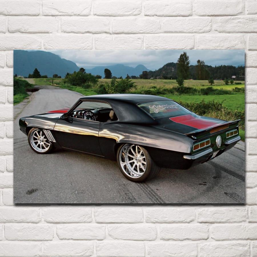 1969 Camaro Retro Muscle Car KC267 Living Room Home Wall
